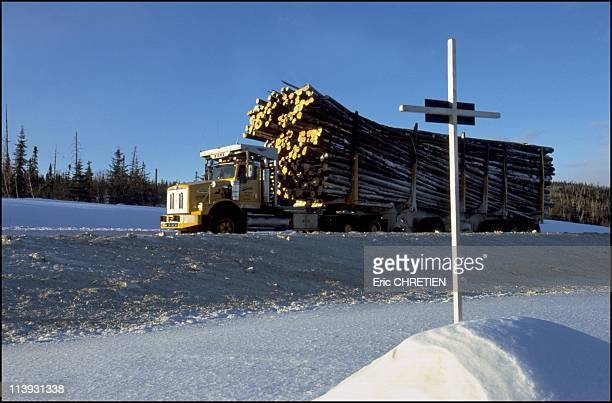 Quebec the 'iced' truckers of Saguenay In Quebec Canada In December 2000The 'Chemin des Passes Dangereuses' really deserves its name Each curve in...
