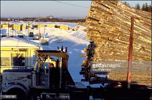 Quebec the 'iced' truckers of Saguenay In Quebec Canada In December 2000The rig is weighed once it reaches the sawmill Each trucks carries 80 to 110...