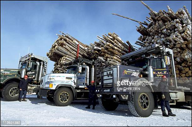 Quebec the 'iced' truckers of Saguenay In Quebec Canada In December 2000Only three truck manufacturers build these huge trucks to order Kenworth Mack...