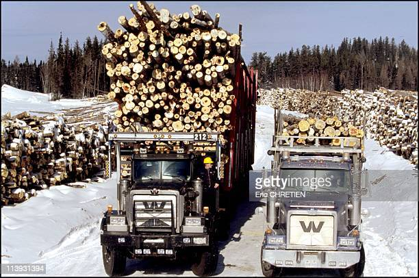 Quebec the 'iced' truckers of Saguenay In Quebec Canada In December 2000150 tons on one side 55 on the other The load of one offroad truck will be...