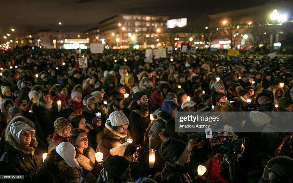 Vigil for Quebec terror attack victims : News Photo