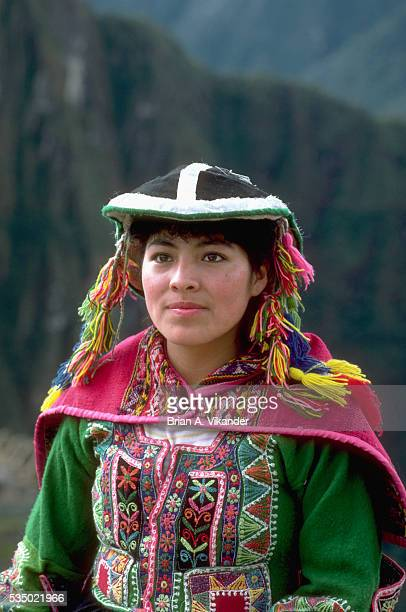 Quechua Woman in Traditional Dress
