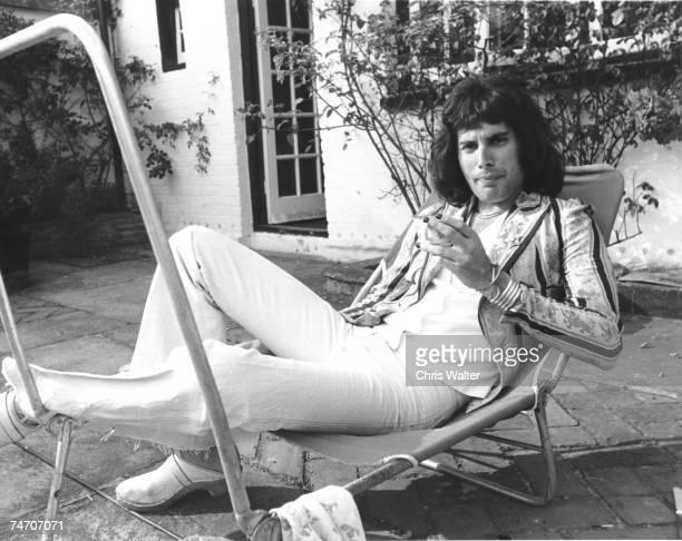 Queen 8/75 Freddie Mercury during Queen file photos in United Kingdom