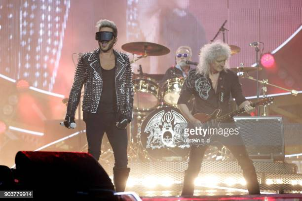 Queen Adam Lambert Adam Mitchel Lambert Brian Harold May CBE und Roger MeddowsTaylor gastieren auf ihrer 'Live in Europe 2016'TourRheinEnergie...