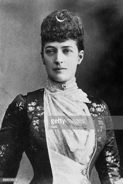 Queen Alexandra of the United Kingdom born princess of Denmark, wife of Prince Edward in 1863, became queen of the United Kingdom in 1901,...