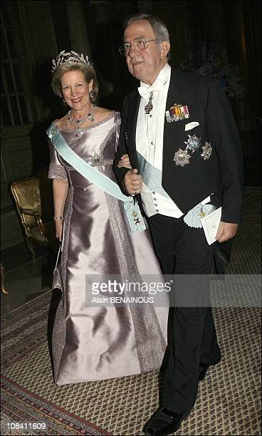 Queen Anna Maria and King Constantine of Greece in Stockholm Sweden on April 30 2006