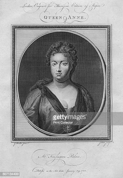 Queen Anne 1785 From Harrison's Edition of Rapin's History of England by Paul Rapin de Thoyras [John Harrison London 1785] Artist Anon