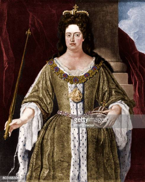 Queen Anne c1702 From the original painting by John Closterman in the National Portrait Gallery London Anne was the daughter of James II deposed by...