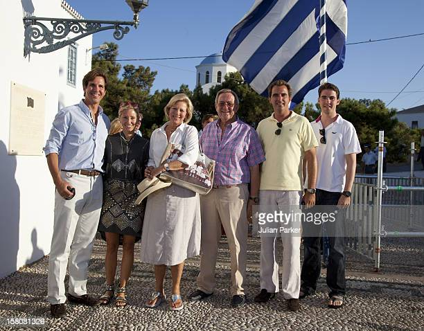 Queen Anne Marie, And King Constantine With Prince Nikolaos And The Greek Royal Family Attend A Wedding Rehearsal For The Wedding Of Prince Nikolaos...