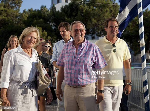 Queen Anne Marie, And King Constantine With Prince Nikolaos Attend A Wedding Rehearsal For The Wedding Of Prince Nikolaos Of Greece And Tatiana...