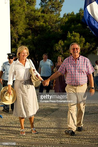Queen Anne Marie of Greece and King Constantine of Greece on August 24, 2010 in Spetses, Greece.