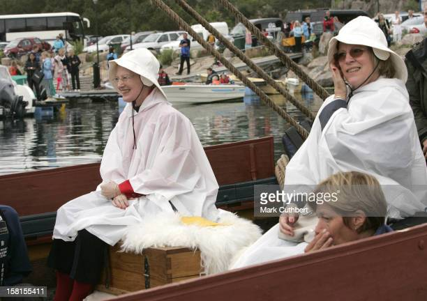 Queen Anne Marie Of Greece Queen Margrethe Of Denmark Attend Queen Sonja Of Norway'S 70Th Birthday CelebrationsRoyal Guests Embark For The Royal...