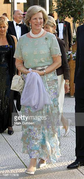 Queen AnneMarie Of Greece Attends The Silver Wedding Anniversary Celebrations Of Grand Duke Henri Grand Duchess MariaTheresa Of LuxembourgReception...