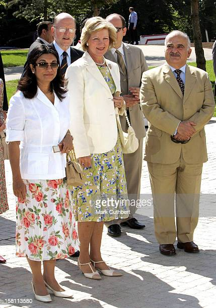 Queen Anne-Marie Of Greece Attends The Silver Wedding Anniversary Celebrations Of Grand Duke Henri & Grand Duchess Maria-Theresa Of Luxembourg.Lunch...