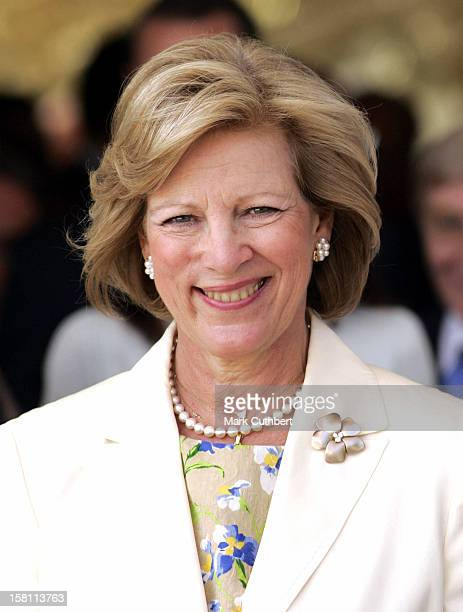 Queen AnneMarie Of Greece Attends The Silver Wedding Anniversary Celebrations Of Grand Duke Henri Grand Duchess MariaTheresa Of LuxembourgLunch...