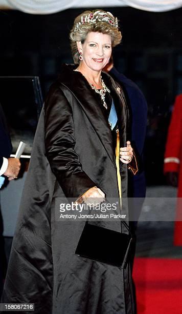 Queen AnneMarie Of Greece Attends The Wedding Of Prince Joachim Princess Alexandra Of Denmark At Frederiksborg Castle