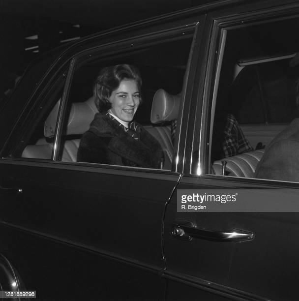 Queen Anne-Marie of Greece leaves London Airport, UK, 13th January 1973.