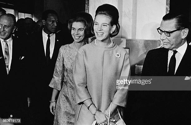 Queen AnneMarie of Greece on a visit to U Thant at the United Nations headquarters United States 29th August 1967