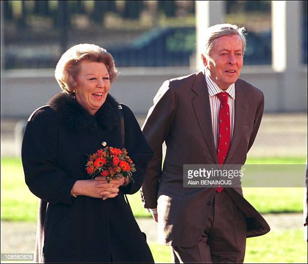 Queen Beatrix and Prince Claus of the Netherlands in Amsterdam, Netherlands on January 31, 1998.