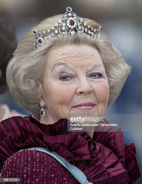 Queen Beatrix At The Wedding Of Crown Princess Victoria Of Sweden And Daniel Westling At Stockholm Cathedral