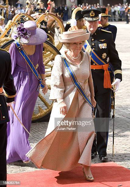 Queen Beatrix Crown Prince Willem Alexander And Crown Princess Maxima Of Holland Attend The Prinsjesdag Prince'S Day State Opening Of Parliament In...