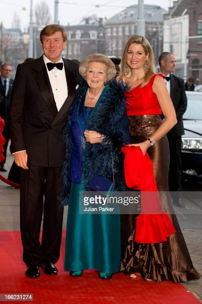 Queen Beatrix Crown Prince Willem Alexander and Crown Princess Maxima of Holland attend a Concert to mark the 125th Anniversary of the Concertgebouw...