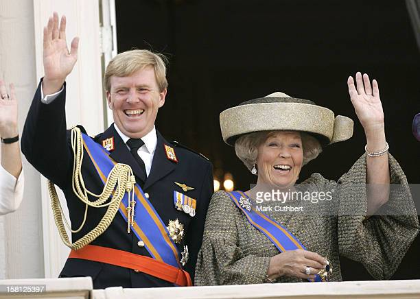 Queen Beatrix Crown Prince WillemAlexander Of Holland Attend The Prinsjesdag Prince'S Day State Opening Of Parliament In The Hague