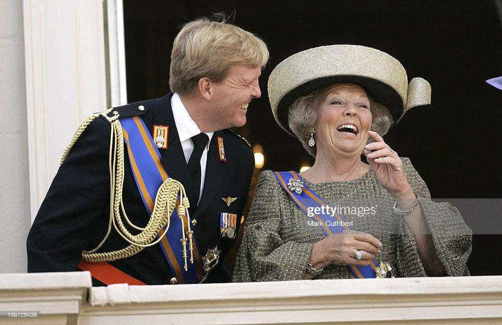 Queen Beatrix & Crown Prince Willem-Alexander Of Holland Attend The Prinsjesdag Prince'S Day State Opening Of Parliament In The Hague. .