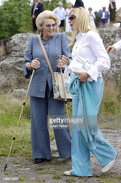 Queen Beatrix Crown Princess Maxima Of Holland Attend Queen Sonja Of Norway'S 70Th Birthday CelebrationsLunch At Engo Near The Royal Summer Residence...