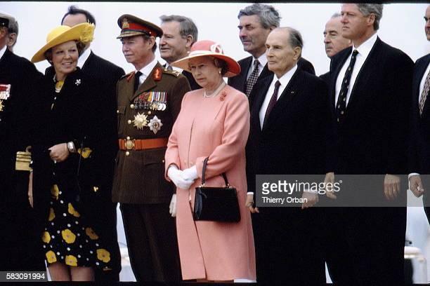 Queen Beatrix GrandDuke Jean Queen Elizabeth François Mietterand and Bill Clinton