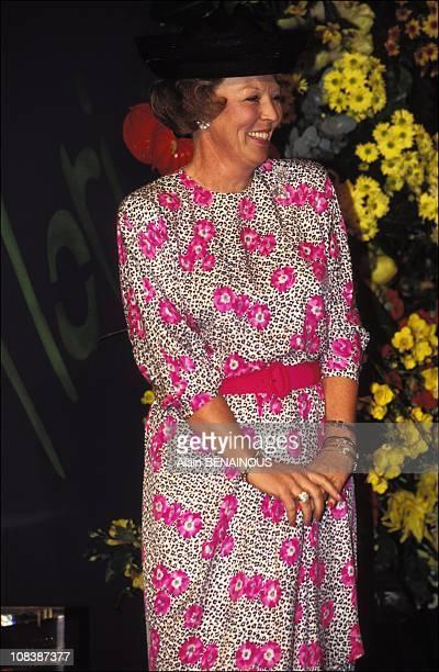 Queen BEATRIX inaugurates 'FLORIADE 92' in Zoetermeer Netherlands on april 09 1992