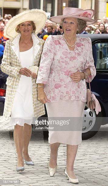 Queen Beatrix Maria Del Carmen Cerruti De Zorreguieta Attend The Christening Of Crown Prince WillemAlexander Crown Princess Maxima Of Holland'S...