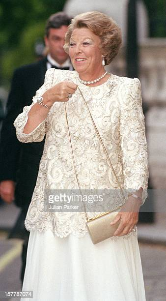 Queen Beatrix Of Holland Attends A Gala At Bridgewater House Prior To The Wedding Of Princess Alexia Of Greece And Carlos Morales Quintana.