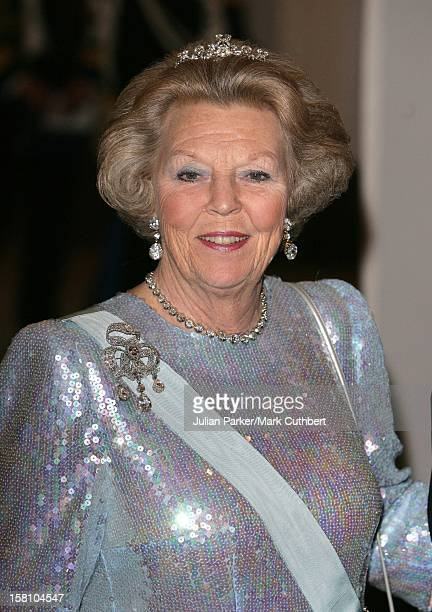 Queen Beatrix Of Holland Attends King Carl Gustaf Of Sweden'S 60Th Birthday CelebrationsGala Dinner At The Royal Palace Stockholm
