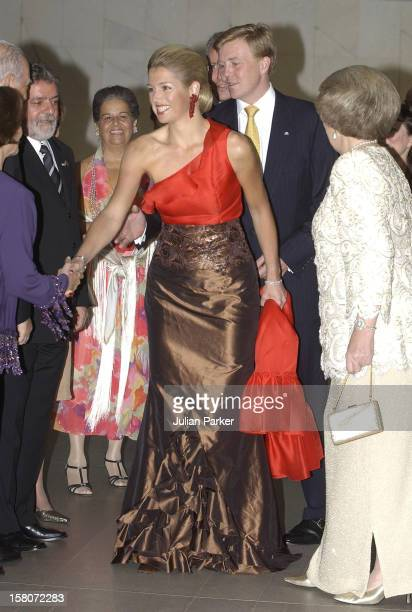 Queen Beatrix Of Holland Crown Prince Willem Alexander Crown Princess Maxima Of Holland During Their State Visit To BrazilState Banquet At The...