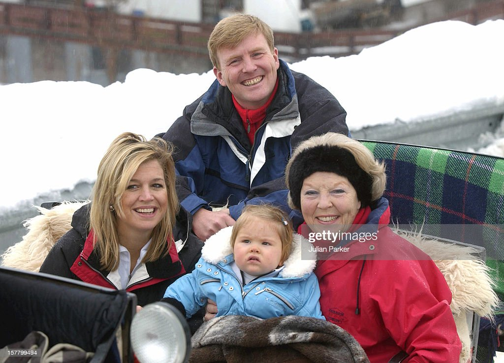 Dutch Royal Family Photocall In Lech, Austria : News Photo