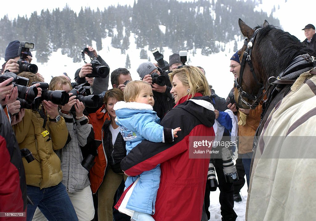 Dutch Royal Family Photocall In Lech, Austria : News Photo