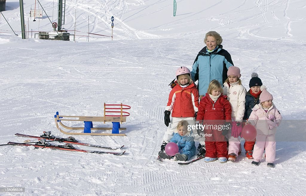 Dutch Royals On Winter Ski Holiday - Austria : News Photo