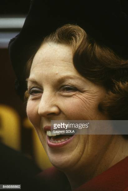 Queen Beatrix of Netherlands and Crown prince Claus in London on November 17 1982 in London United Kingdom