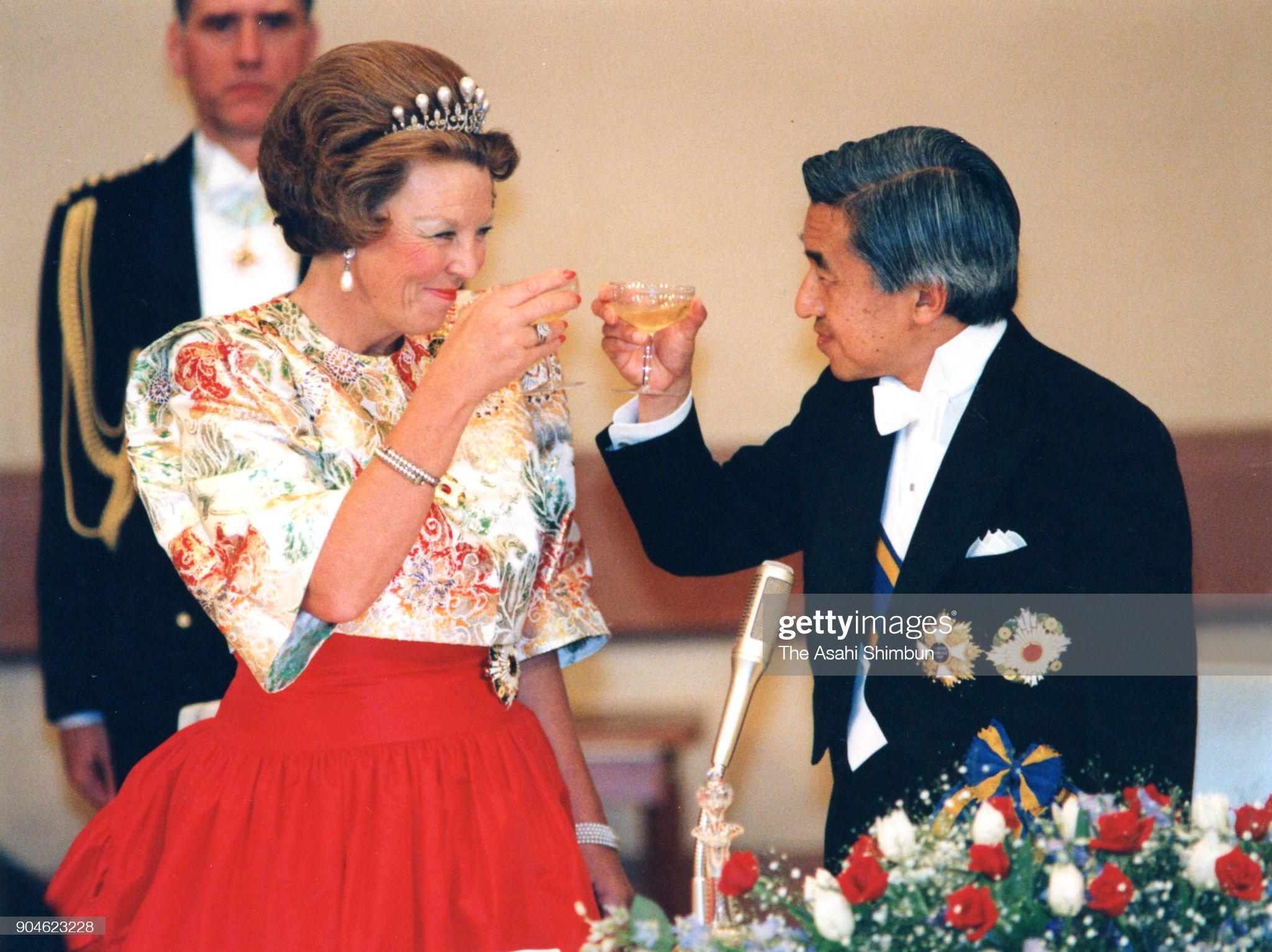 Queen Beatrix Of Netherlands Visits Japan : News Photo