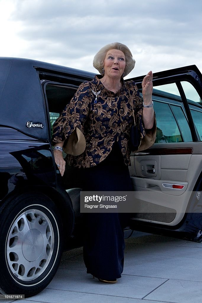 Queen Beatrix of the Netherlands arrives at the National Opera House on June 2, 2010 in Oslo, Norway.