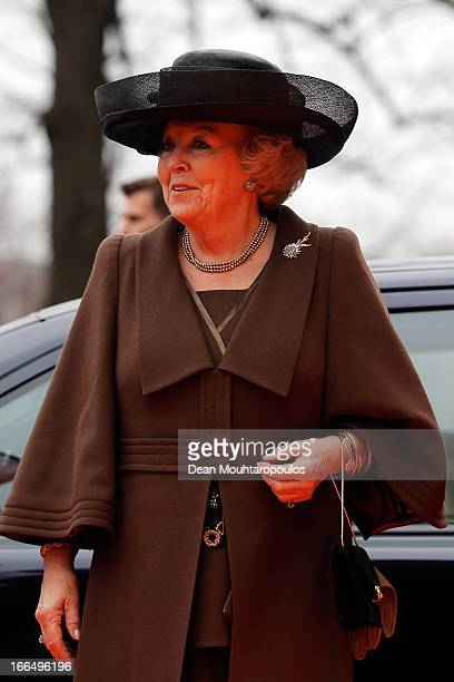 Queen Beatrix of the Netherlands arrives for the Rijksmuseum Official Opening on April 13, 2013 in Amsterdam, Netherlands. The 10-year renovation of...
