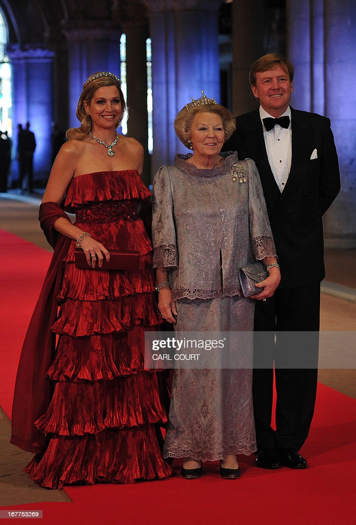 NETHERLANDS-ROYAL-DINNER : Nachrichtenfoto