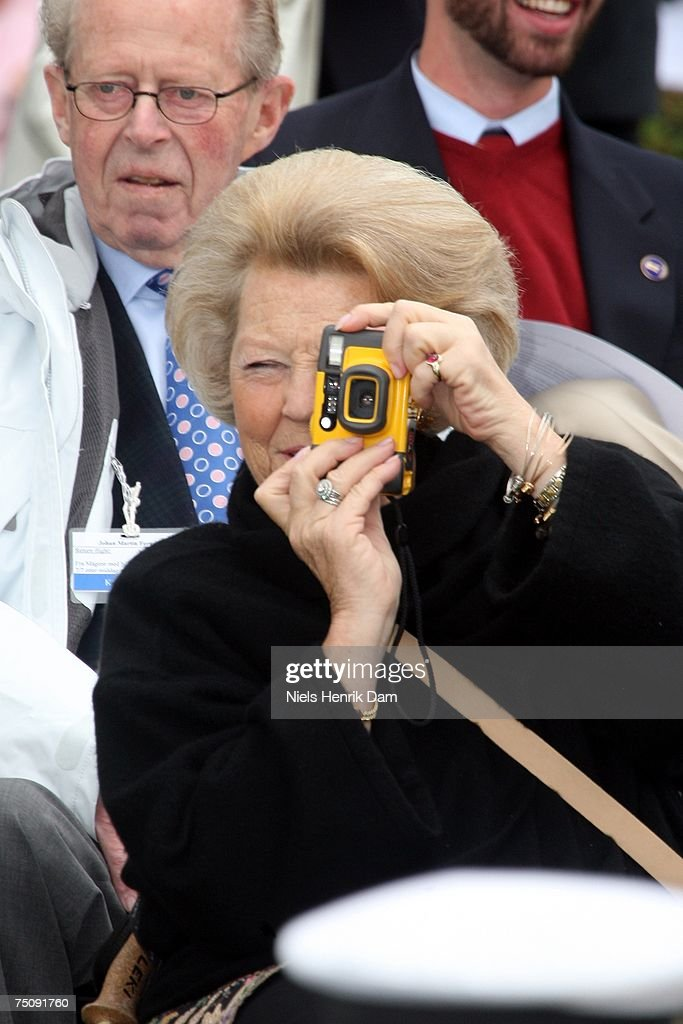 Queen Beatrix of the Netherlands attends the celebrations for Norway's Queen Sonja's 70th birthday, as she officially opens the Spangereid Canal with the royal familiy and their guests July 5, 2007 in Lindesnes, Norway.