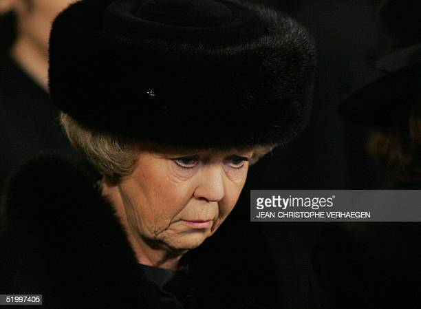 Queen Beatrix of the Netherlands attends the funeral of Luxembourg Grand Duchess Josephine Charlotte in Notre Dame de Luxembourg's cathedral 15...