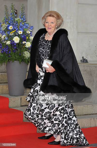 Queen Beatrix of the Netherlands attends the Government PreWedding Dinner for Crown Princess Victoria of Sweden and Daniel Westling at The Eric...