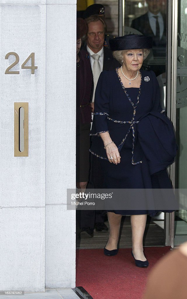 Queen Beatrix of The Netherlands attends the National Minorities conference on March 7, 2013 in The Hague, Netherlands.