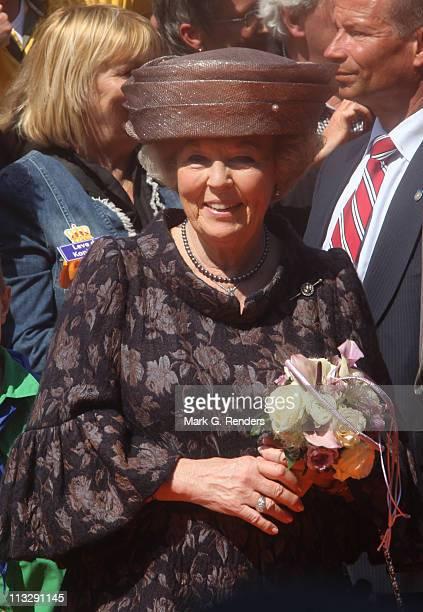 Queen Beatrix of The Netherlands celebrates Queens Day on April 30 2011 in Weert Netherlands