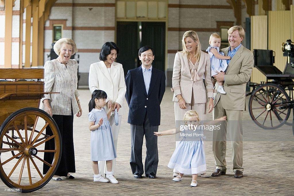 Japanese Royal Family During A Photocall At Dutch Royal Palace : News Photo