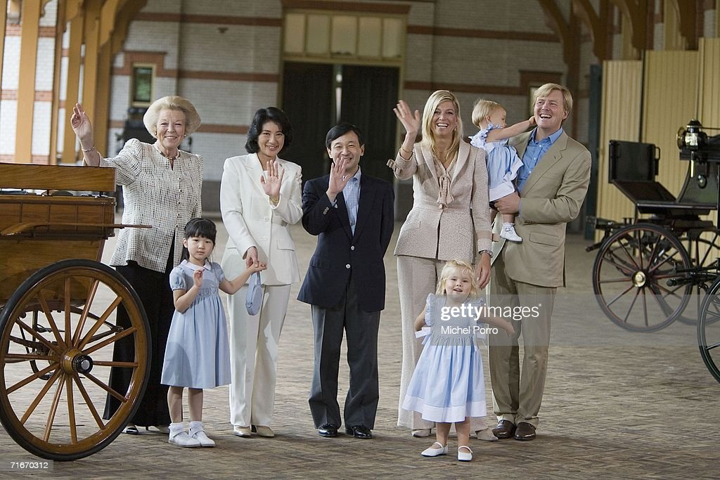 Japanese Royal Family During A Photocall At Dutch Royal Palace : News Photo